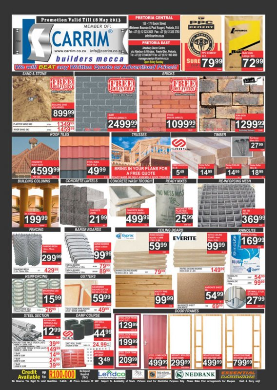 Carrim Tile Mecca March May 2013 Specials